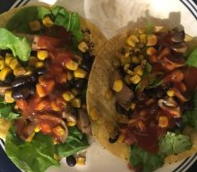 Black beans and musrooms fajitas – meatless Monday  on budget