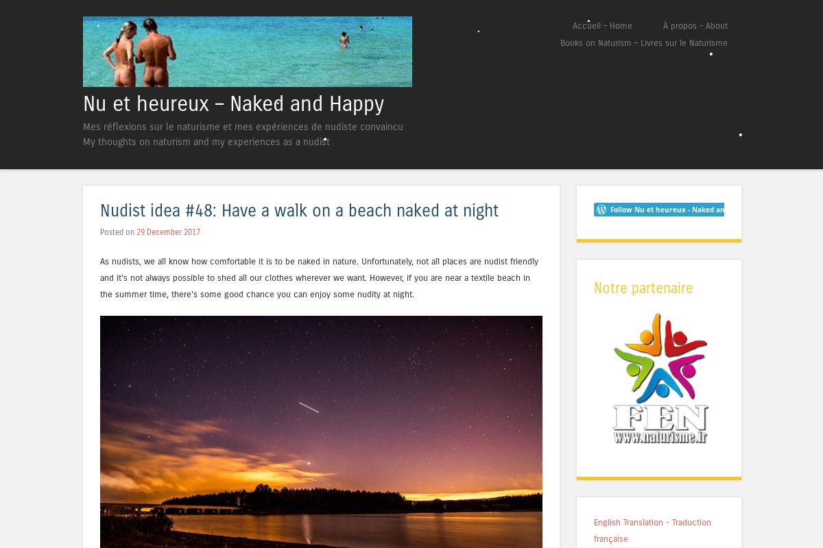 Nudist home page photo
