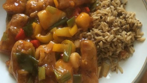 Vegan Crispy Sweet and Sour chicken