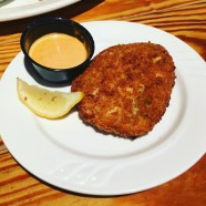 Fried crab and salt