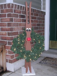 How to Build Wooden Reindeer Yard Decorations PDF Plans