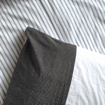 Cloth House Block Stripe and percale