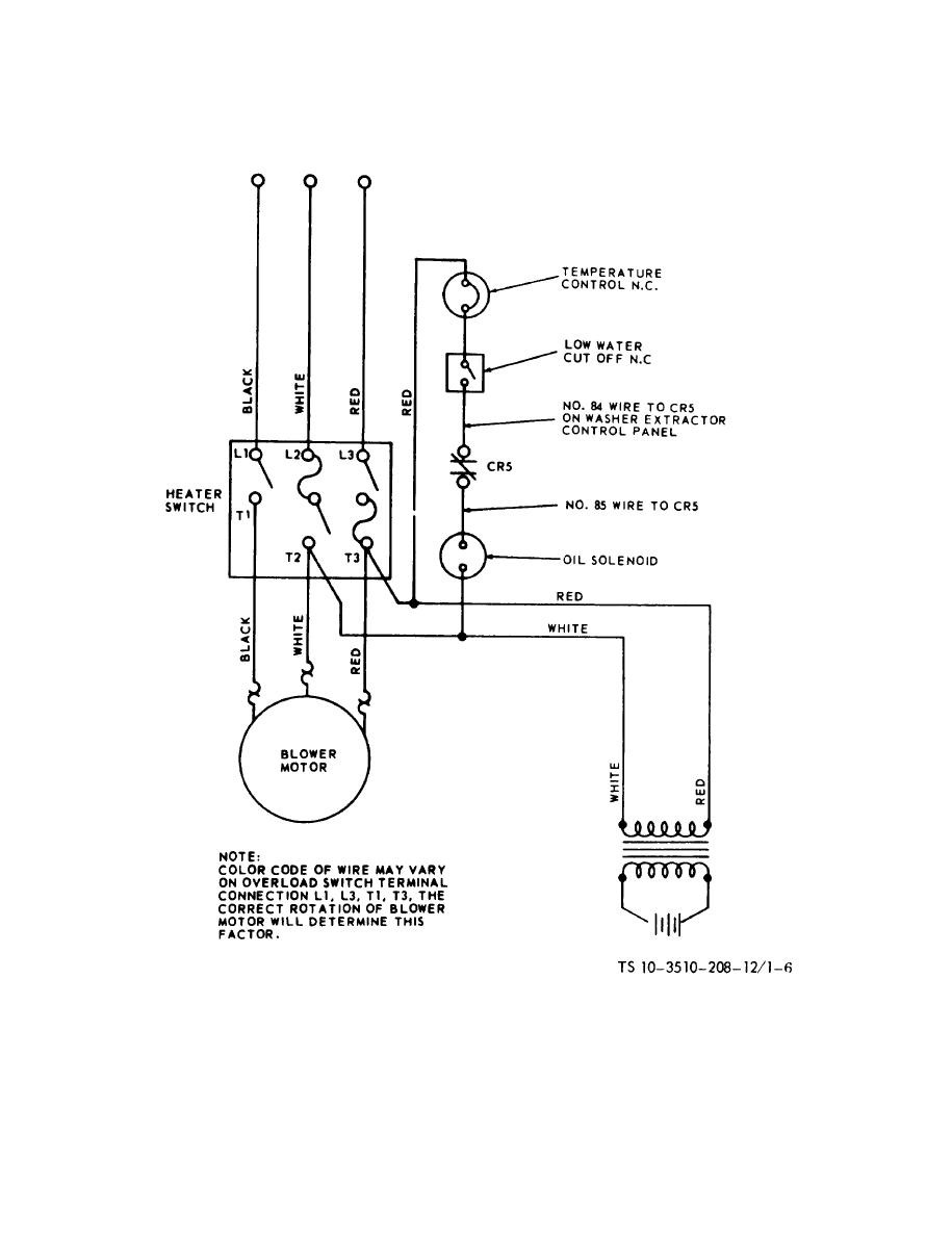 Figure 1-6. Water heater wiring diagram.