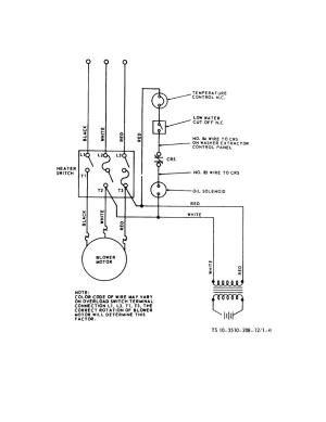 Figure 16 Water heater wiring diagram