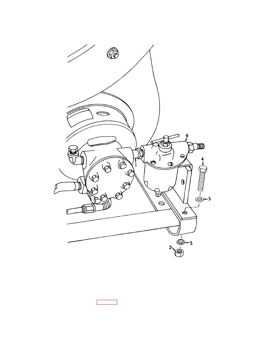 Figure 4-78. Fuel filter and bracket removal and installation.
