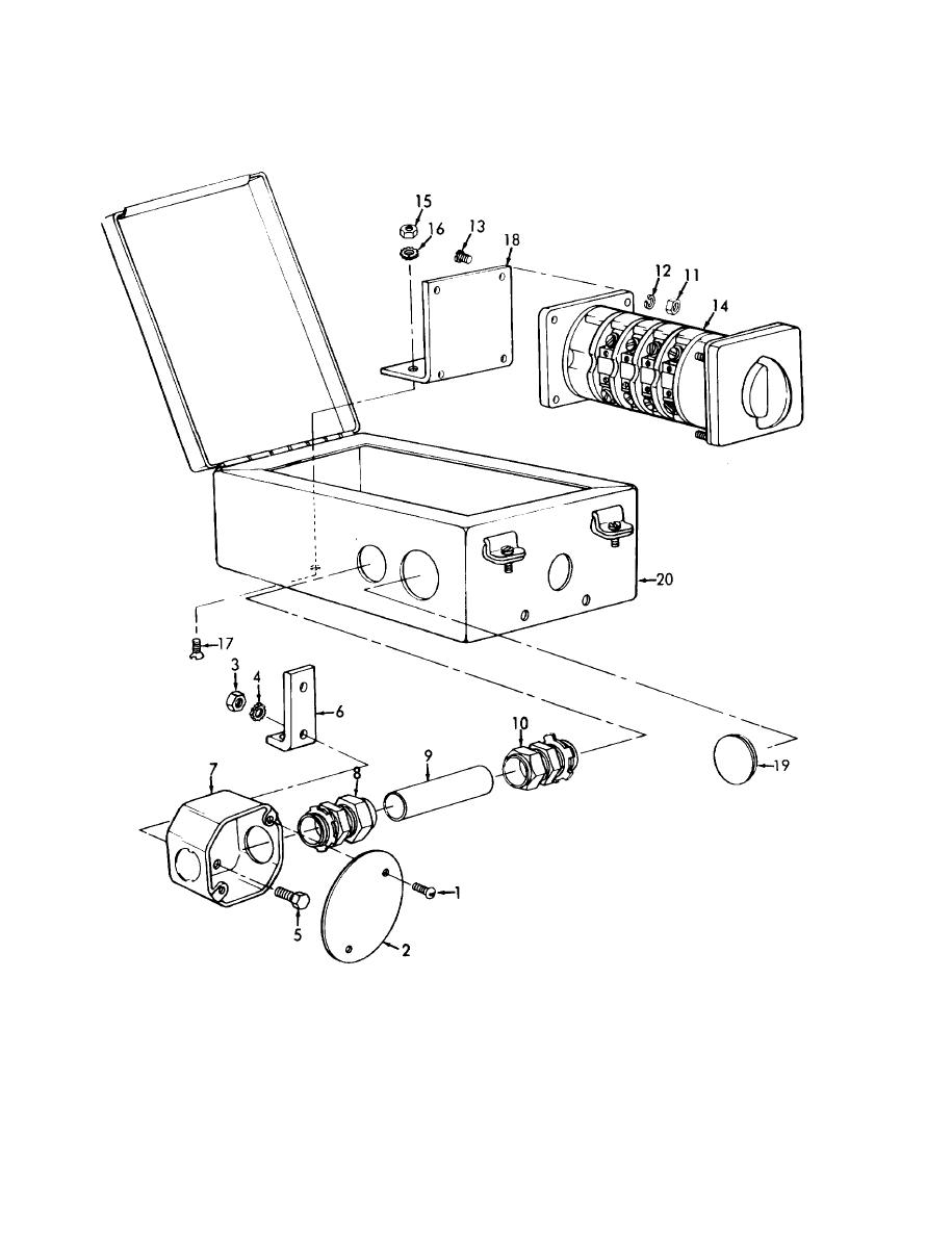 Figure 4-114. Generator switch box and outlet box