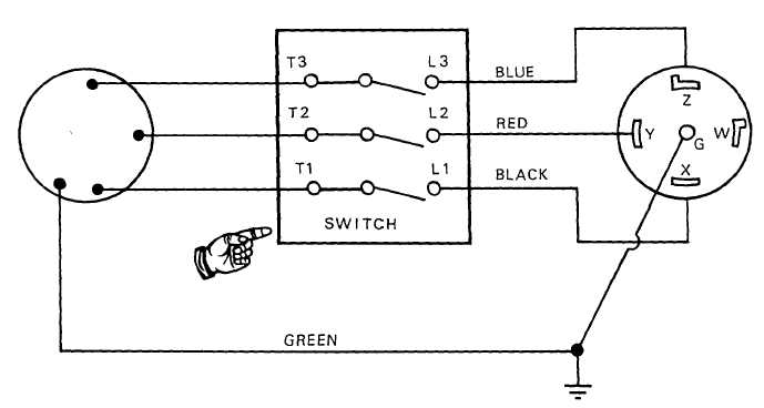 FIGURE 2-6. Water pump wiring diagram