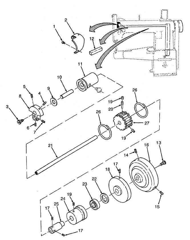 Figure 65. Darning Machine Oil Guard, Needle Bar Crank