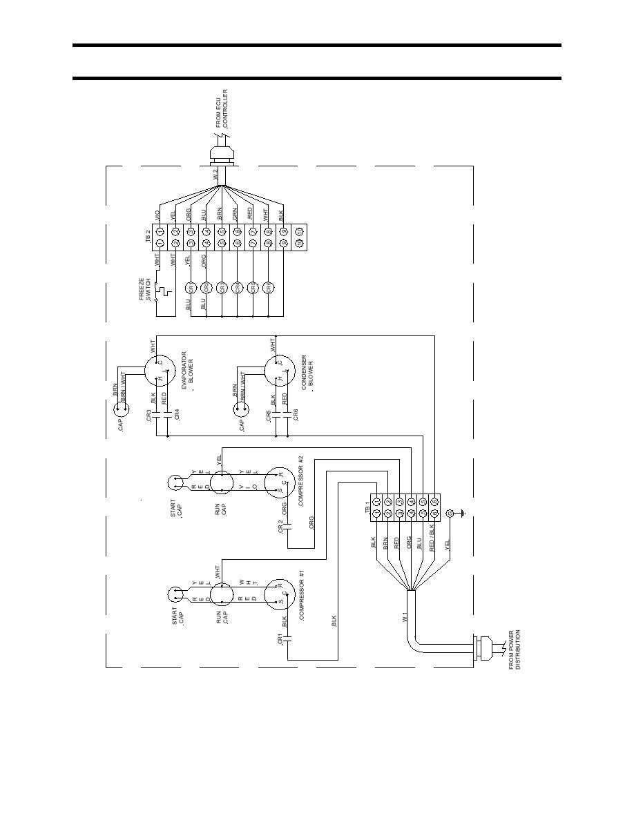 Figure 2. Wiring Diagram, ECU A/C Primary.