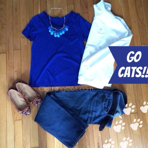 Game day outfit <br/>UK vs UofL basketball