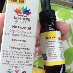 Balanced Guru hair oil - no frizz oil