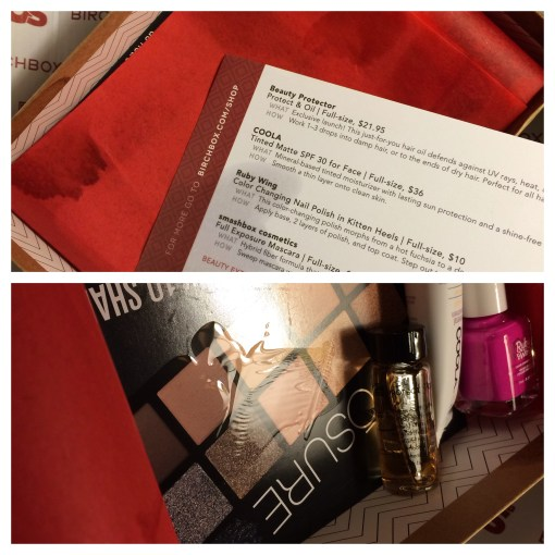 Birchbox February 2014 unboxing