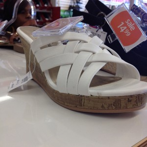Payless Shoes white wedge - Twain wedge