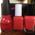 Sinful Colors Thimbleberry vs Essie Boat House vs Zoya Elodie