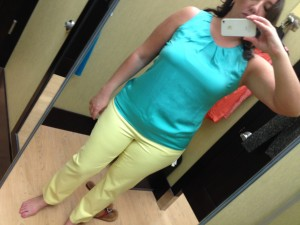 Dana Buchman Sateen Capris & Dana Buchman Solid Pleated Top
