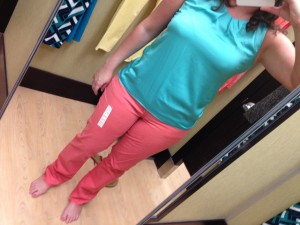 SONOMA life + style Modern Fit Twill Straight-Leg Pants Coral / Pink Rage