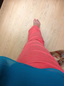 SONOMA life + style Modern Fit Twill Straight-Leg Pants Coral