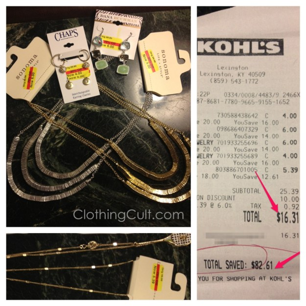 Kohls clearance jewelry haul Sept 2013