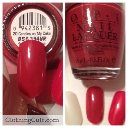 OPI nail polish 20 Candles on My Cake swatch