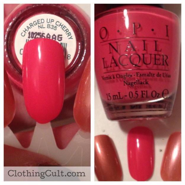 OPI nail polish Charged Up Cherry swatch