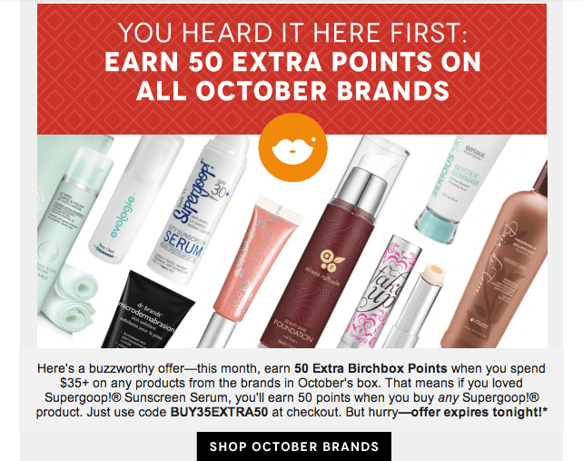 October Birchbox Coupon