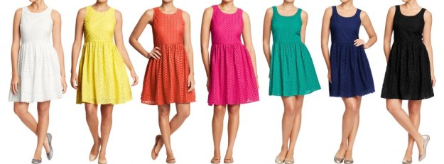 Old-Navy-Women's-Mixed-Eyelet-Dresses