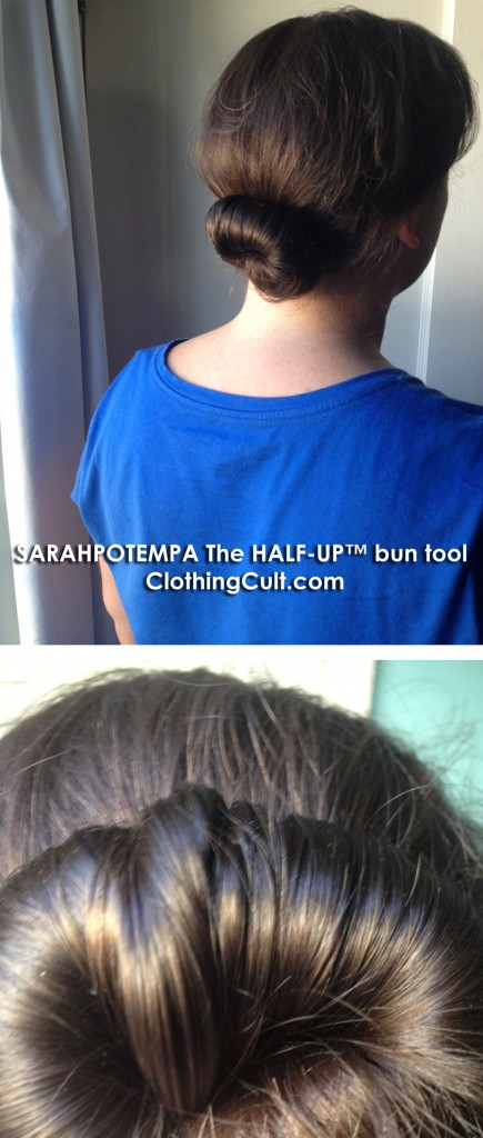 SARAHPOTEMPA The HALF-UP bun tool in hair • easy low bun