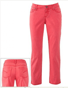 SONOMA life + style Modern Fit Twill Straight-Leg Pants Pink Rage