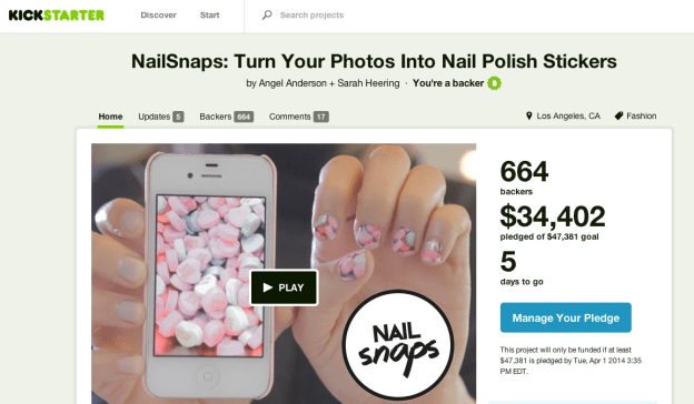 NailSnaps – Instagram Photos for your nails! <br />{kickstarter – funded}