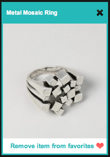 JewelMint Metal Mosaic Ring
