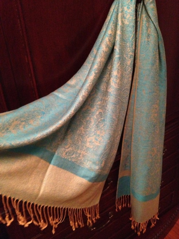 Turquoise Gold Silk Feel Paisley Pashmina Shawl : Wrap : Stole - 30+ Beautiful Paisley Designs From the Scarf Shop