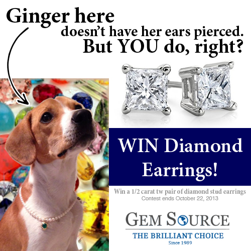 Win Diamond Earrings Gemsource Contest Oct 2013-500x500