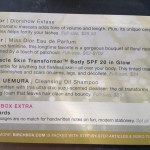 birchbox card back May 2012