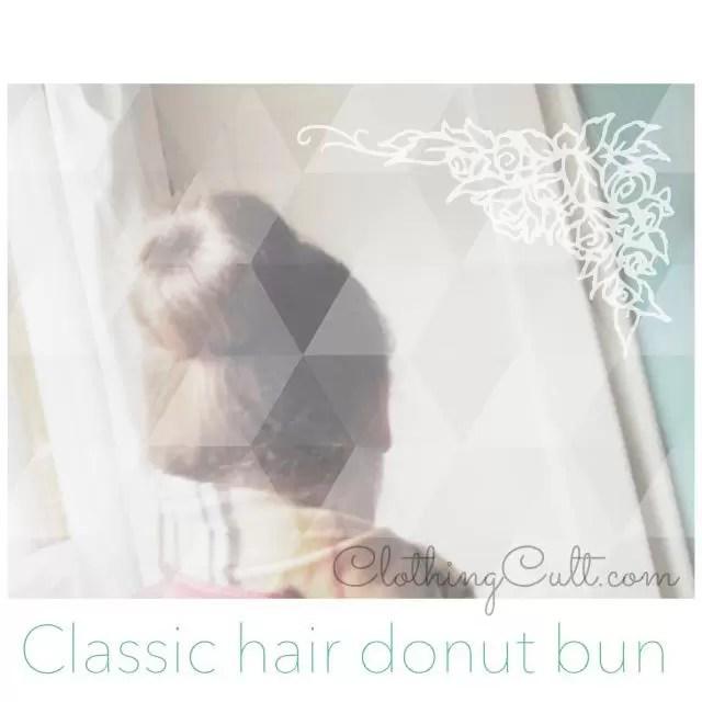 classic hair donut bun 1