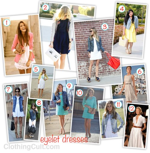 Eyelet Dress collection – cute spring and summer dresses 2013