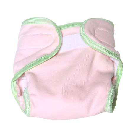 pink & lime cloth nappy