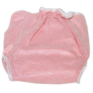 Pink &-white cloth nappy