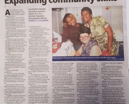Expanding Community Skills - Moptails in the news