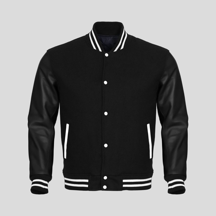 Varsity Jacket Navy Black Sleeves 89
