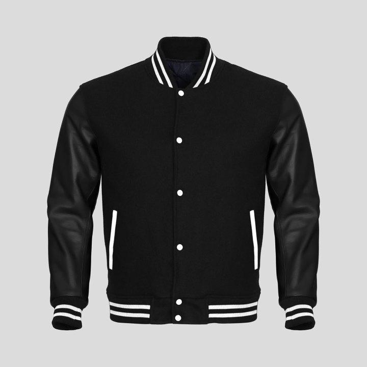 Varsity Jacket Navy Black Sleeves 89