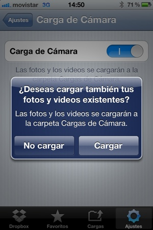 Guardar fotos del iPhone en Dropbox (1/5)