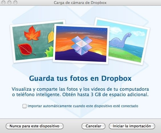 Guardar fotos del iPhone en Dropbox (5/5)