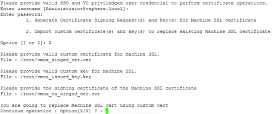 Import signed certificate