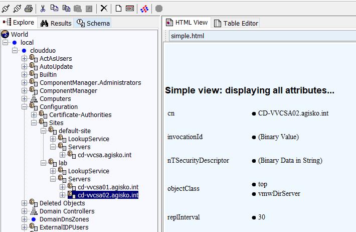 Stale entry in JXplorer