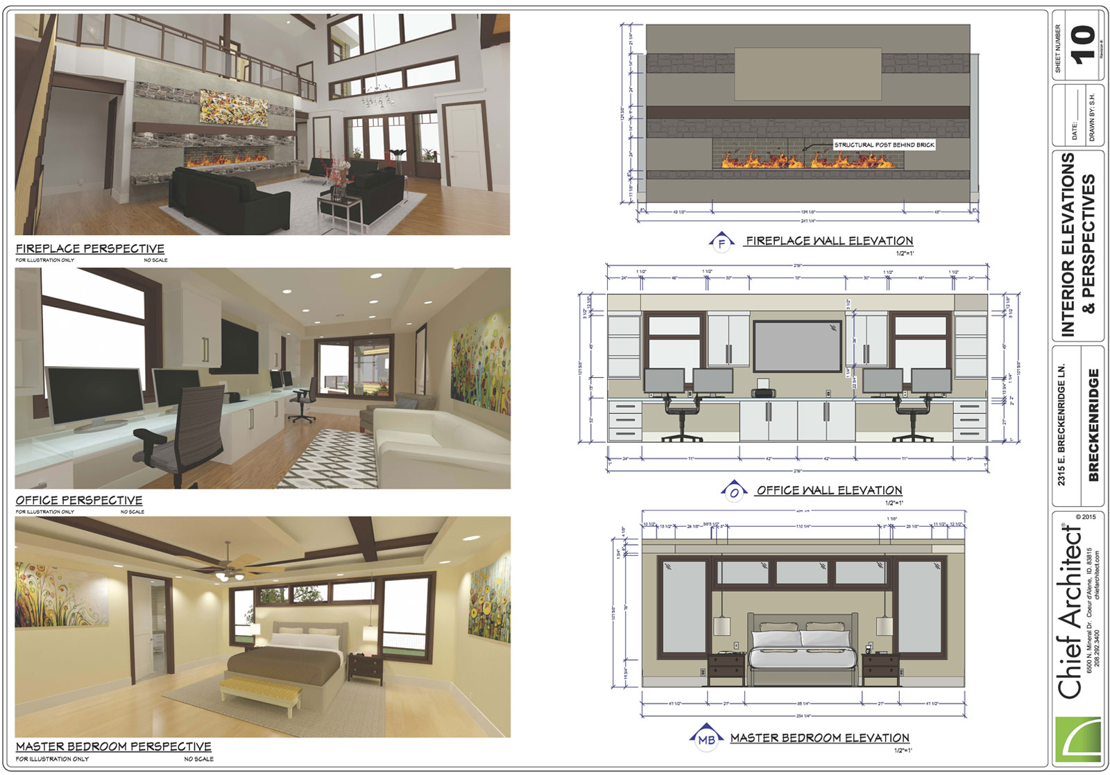 hight resolution of interior design layout with wall elevations and dimensions