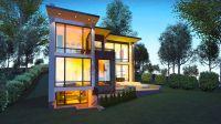 Contemporary Hillside House Plans