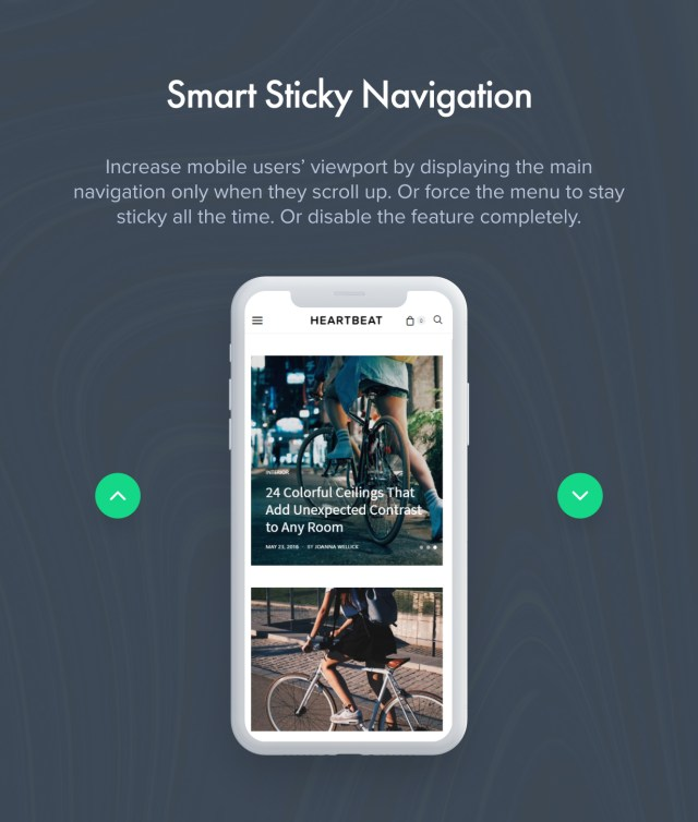 Smart Sticky Navigation