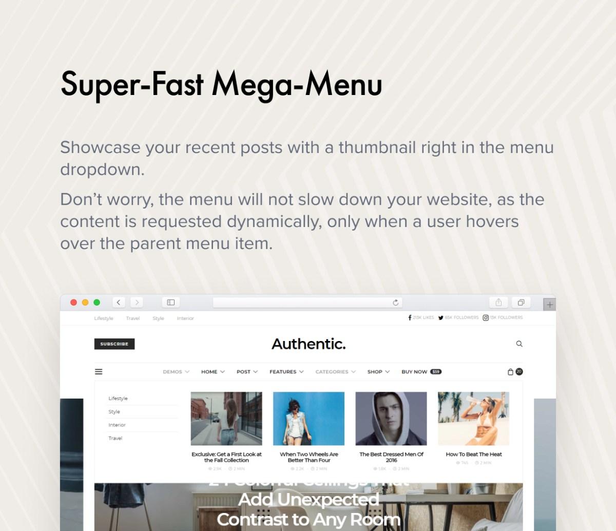 Super-Fast Mega-Menu