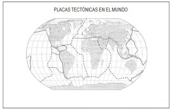 Mapa De Las Placas Tectnicas Para Imprimir