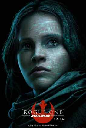 rogue-one-a-star-wars-story-jyn-erso-poster_bhd6.640 STAR WARS: ROGUE ONE TEM PÔSTERS DE PERSONAGENS REVELADOS